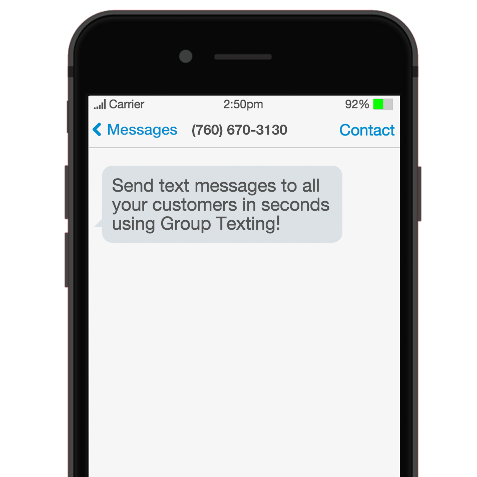 SMS Text Blast Long Code Mobile Smartphone Example